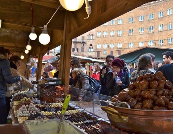 The artisanal chocolate festival in Siena