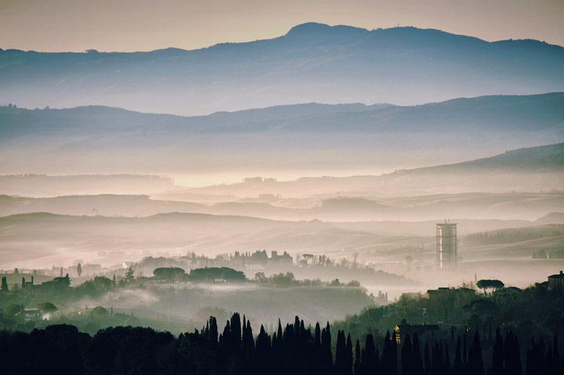 Paesaggio in Val d'Arbia